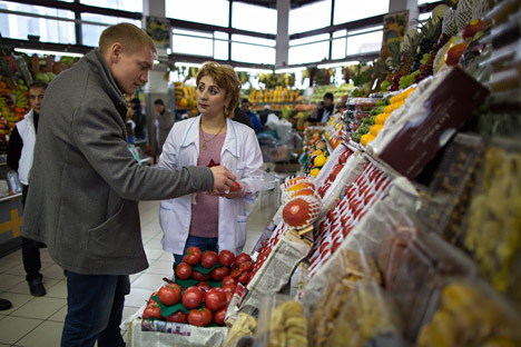 Russian company imported the first lot of tomatoes from Syria.
