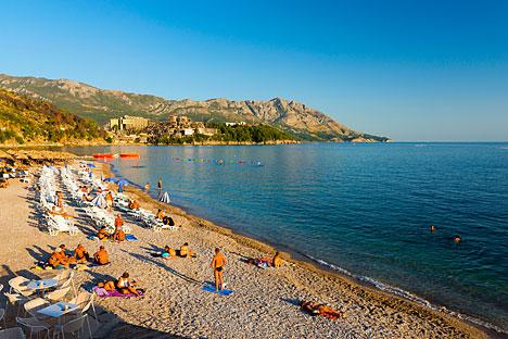 Main Beach, Budva, Montenegro.