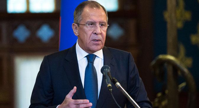 Il ministro russo degli Esteri Sergej Lavrov.