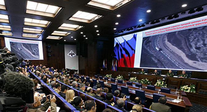 "Mass media briefing ""Russian Federation Armed Forces fighting against international terrorism""."