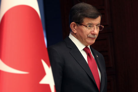 Prime Minister of Turkey Ahmet Davutoglu.