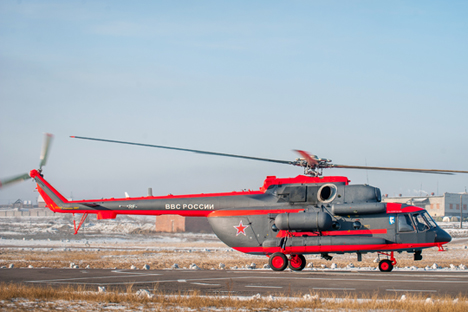 Flight tests of the Mil Mi-8AMTSH-VA Arctic helicopter in Ulan-Ude.