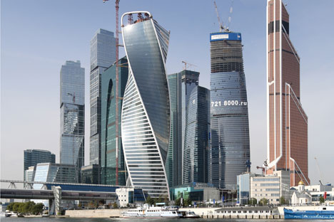 Financial future: the Moscow-City business center is still partly under construction.
