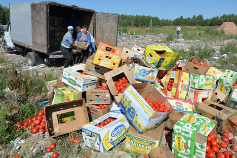 Authorities removed 44.8 tons of banned goods from stores in the first half of 2015 and are destroying sanctioned products seized at the border.