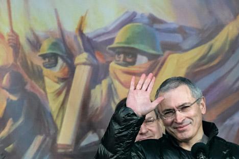 Mikhaïl Khodorkovski à Kiev, en mars 2014.