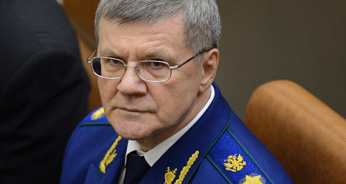 Yury Chaika, Prosecutor General of the Russian Federation, seen at a meeting of the Federation Council of the Federal Assembly of the Russian Federation.