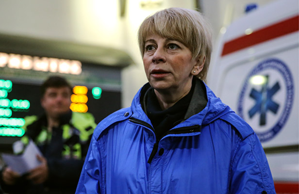 Spravedlivaya Pomoshch Fund director, Yelizaveta Glinka (a.k.a. Doctor Liza), who has brought sixteen ailing children and one adult from the Donetsk Region for treatment in Moscow hospitals.