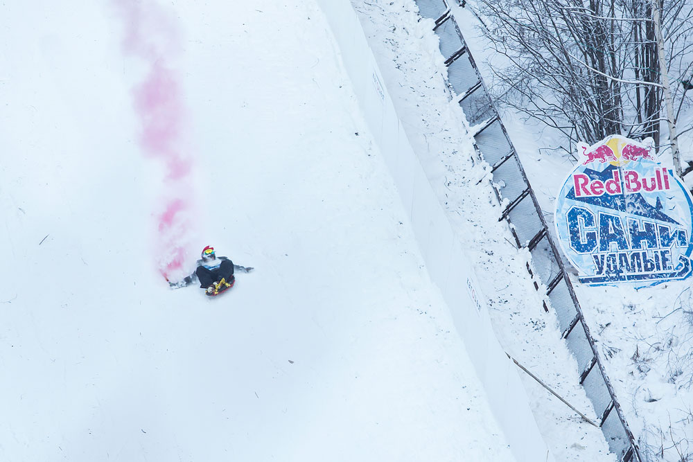 Extreme sport specialists from Red Bull are frequent guests in Russia and they demonstrate a variety of breathtaking moves.