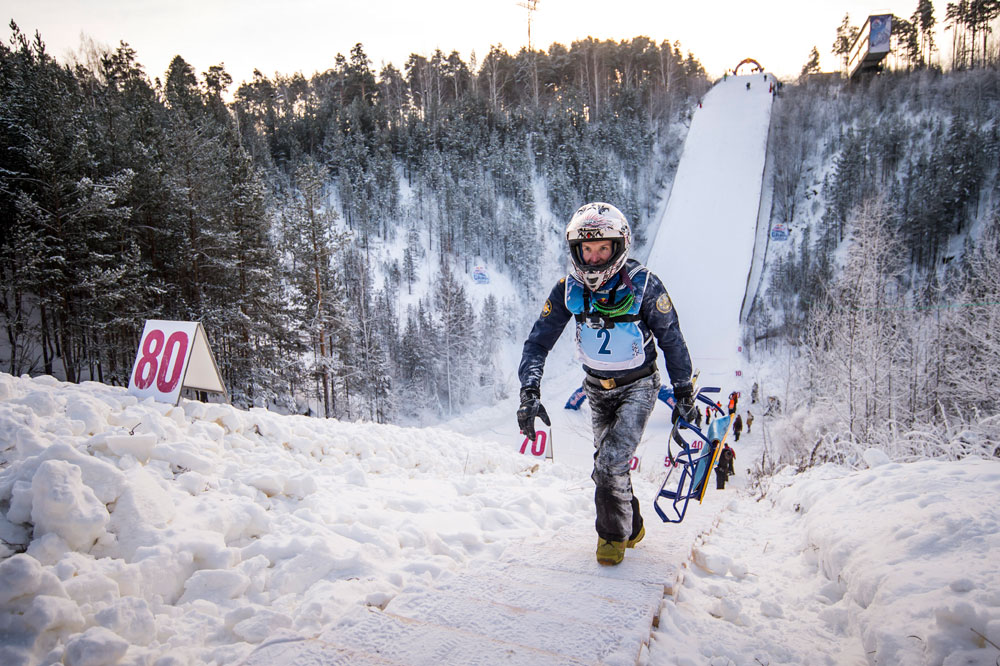 84 meters (276 feet) of downhill sledding at temperatures below -15C (5F) – now that's what we call Russian extreme!