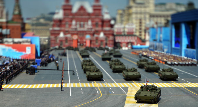 The military parade in Moscow, May 9, 2015.