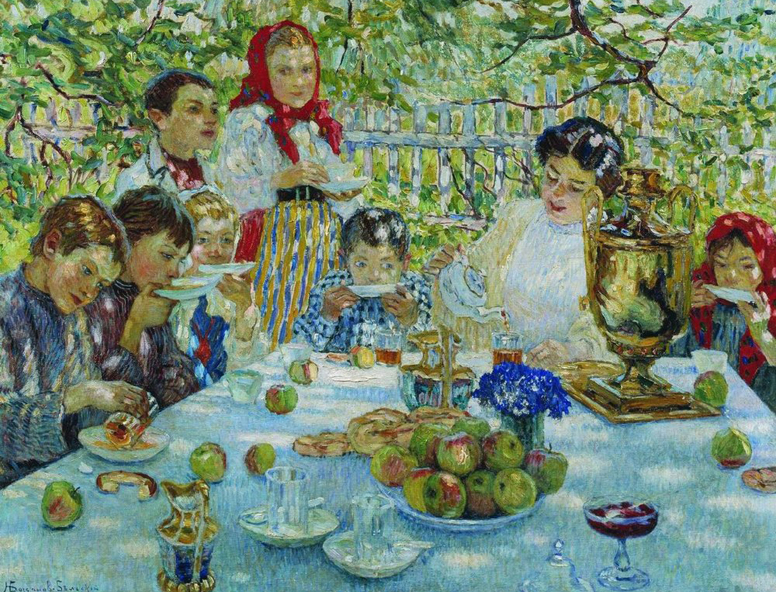 Teacher's birthday, Nikolai Bogdanov Belsky, c. 1920.