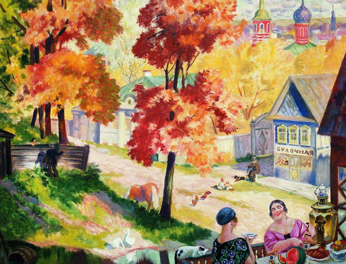 Autumn in the province, Boris Kustodiev, 1926.