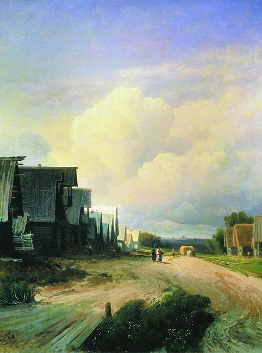 『村の通り』、フョードル・ヴァシリエフ、1868年。