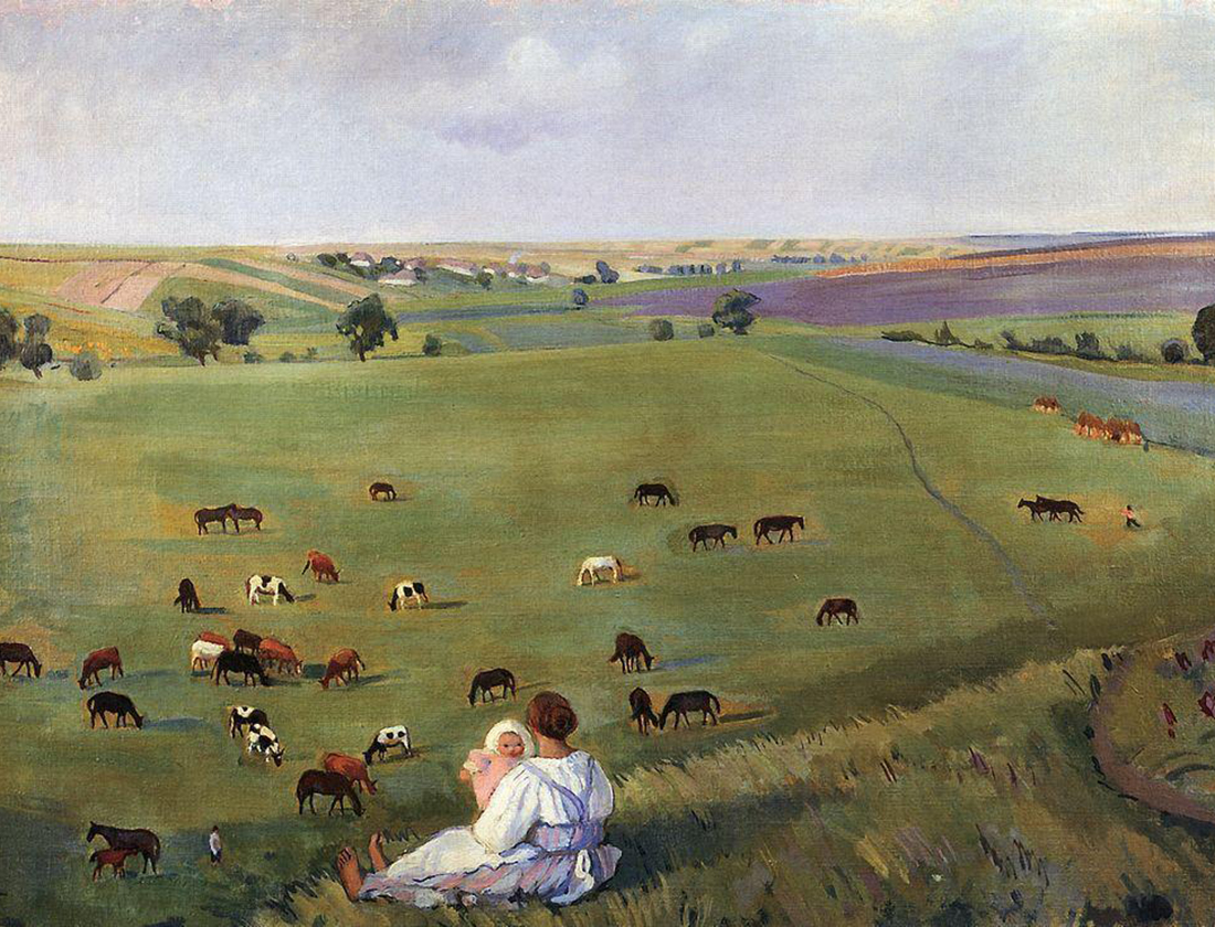 In the meadow, Zinaida Serebryakova, 1912.
