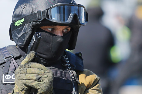 Anti-terrorism drill in Kaliningrad.
