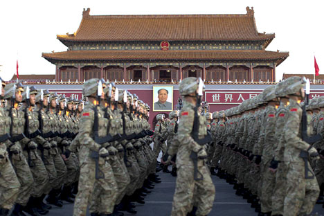 Soldiers of the People's Liberation Army.