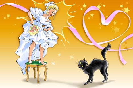 10 superstizioni russe sul matrimonio.