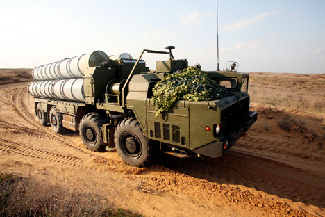A S-300 long range surface-to-air missile system