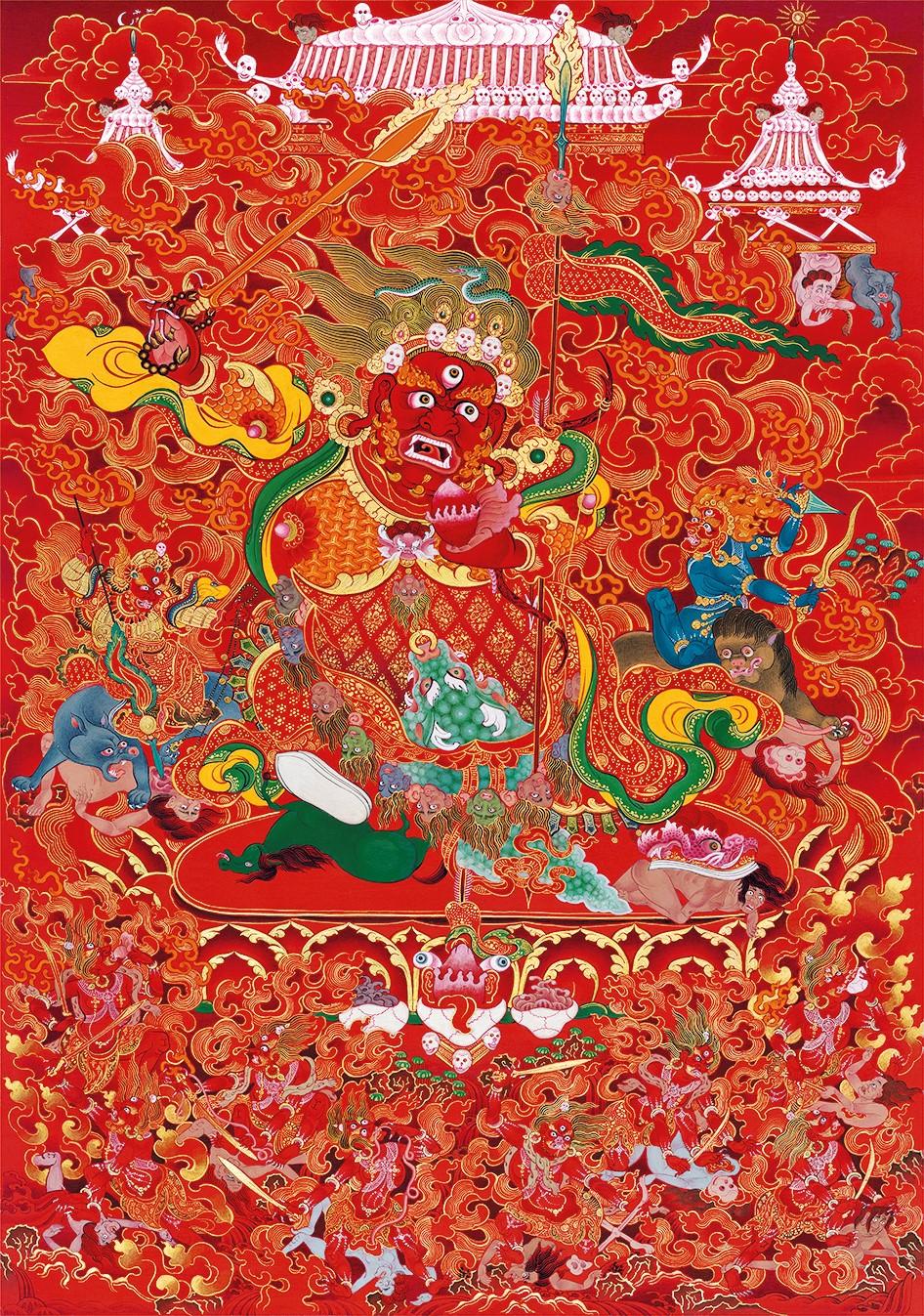 Un artiste doit passer cinq ans à apprendre cet art dans des temples bouddhistes pour être considéré comme un professionnel. Dudko est parvenu à apprendre les techniques de peinture nécessaires en un an et demi.