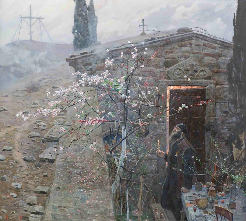 パーヴェル・ルィジェーンコ、制作年不詳。「復活大祭」