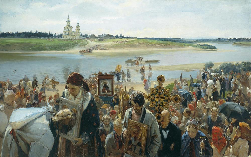 イラリオン・プリャニーシニコフ、1893年。「十字架行進」