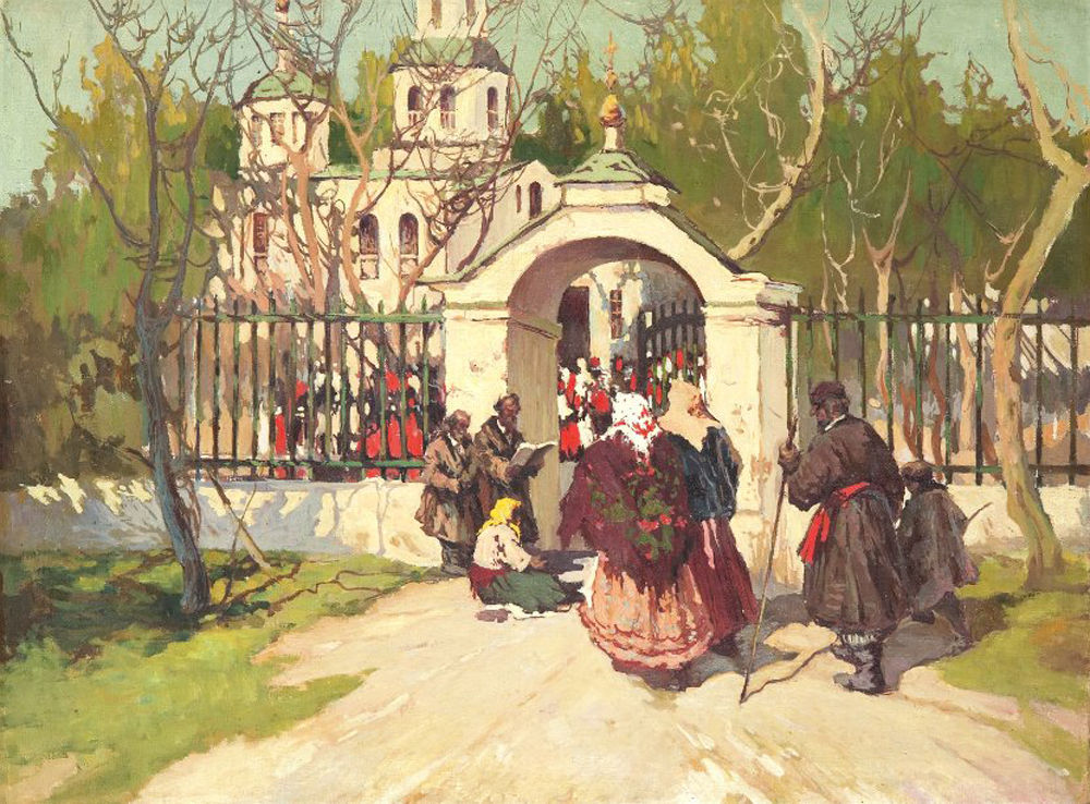 Stépan Kolesnikov, (date inconnue). Avant le service pascal