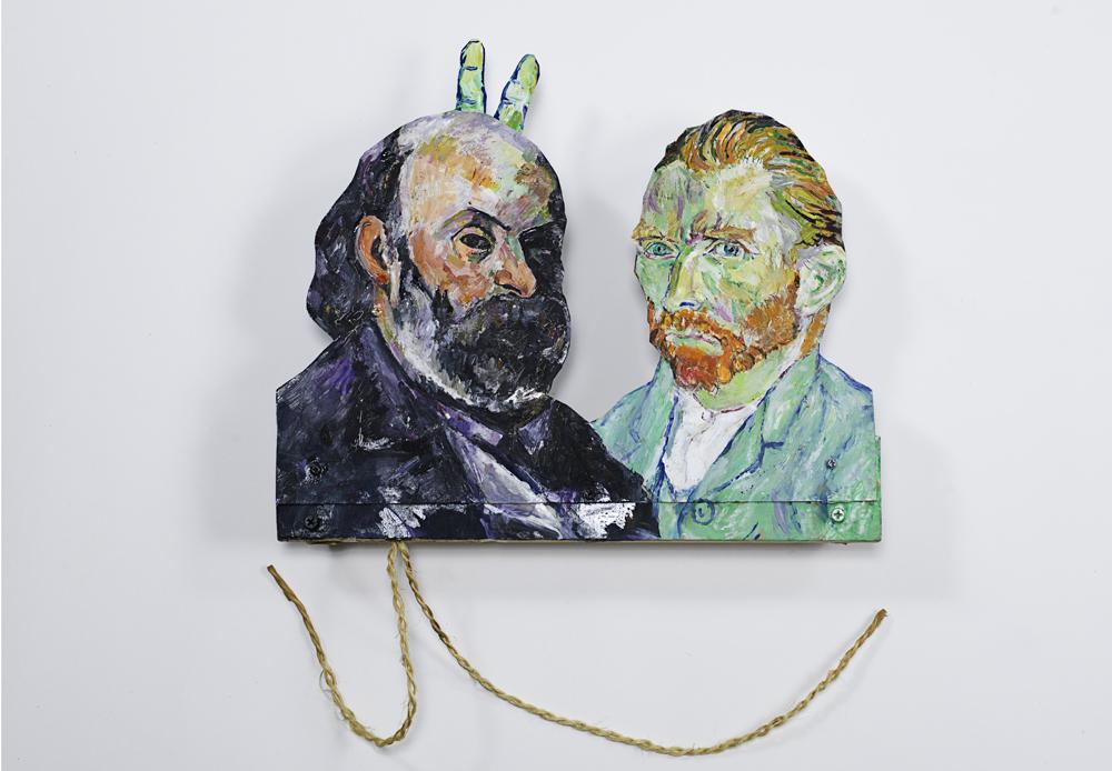 Van Gogh et Cézanne avec des cornes,2014