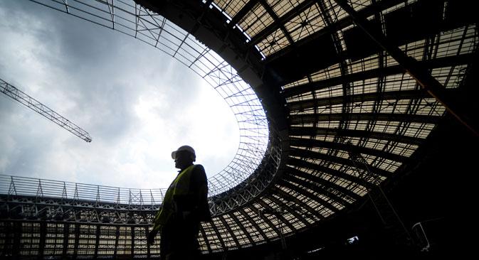 Rusija razmišlja na veliko: za prvenstvo gradijo najsodobnejše stadione. Avtor: Konstatntin Čabalov / RIA Novosti