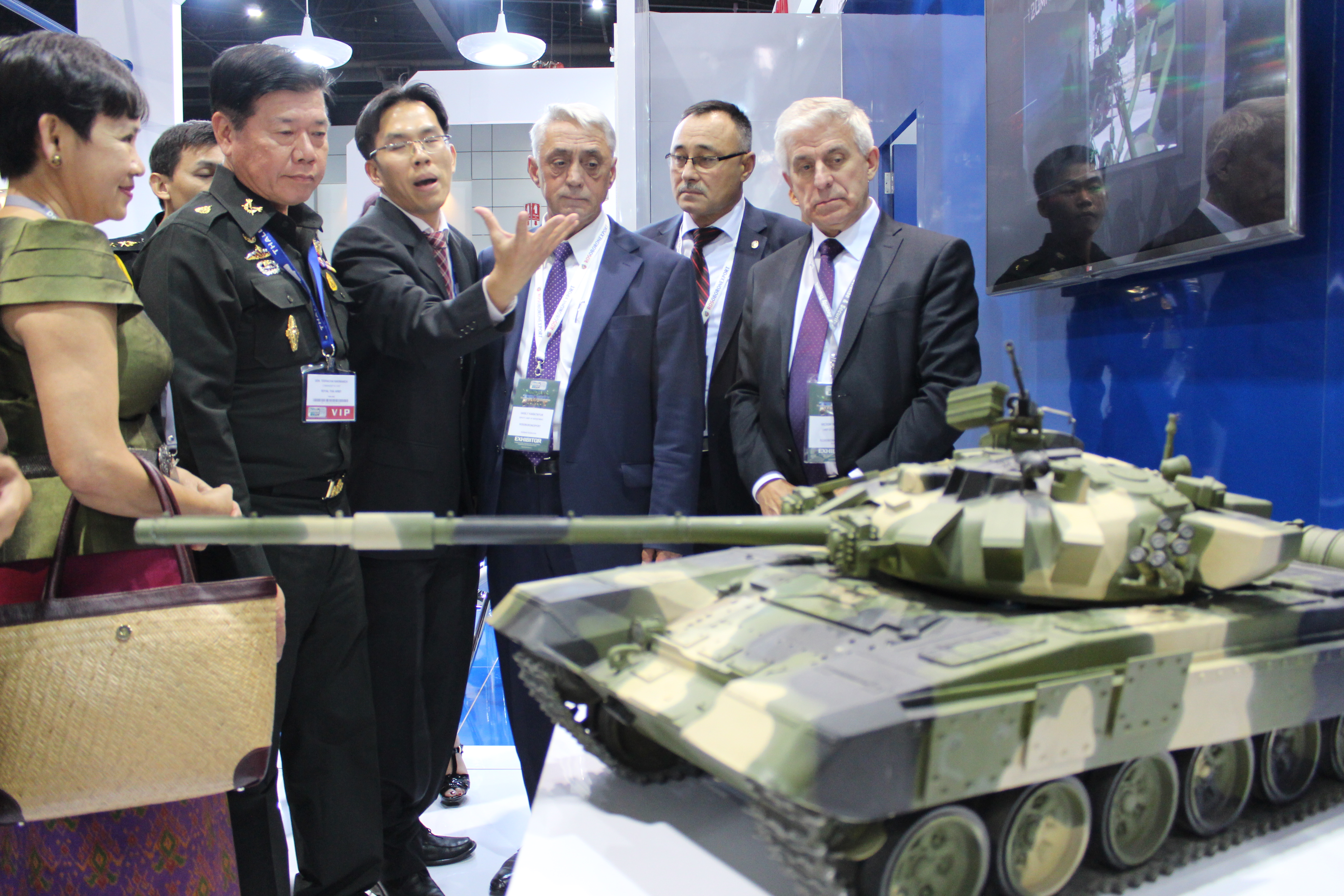 Russian exposition at the Asian Defense & Security 2015 Exhibition and Conference.