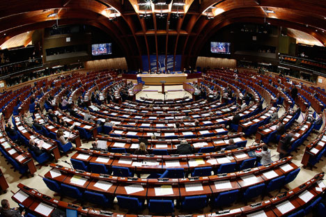 The Parliamentary Assembly of the Council of Europe.
