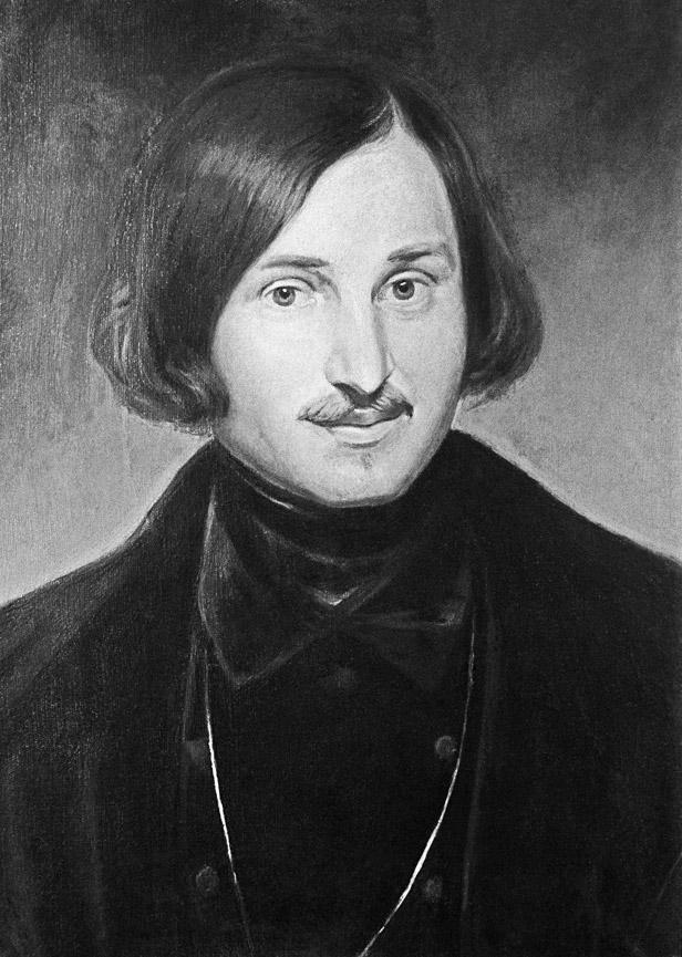 モーラー作のゴーゴリの肖像画