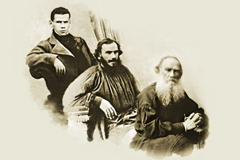 Leo Tolstoy in his youth, maturity, old age.