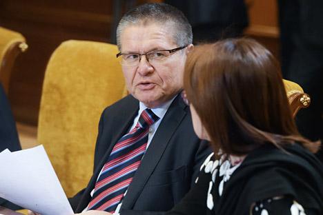 Le ministre du Développement économique Alexeï Oulioukaïev et la présidente de la Banque centrale de Russie Elvira Nabioullina.