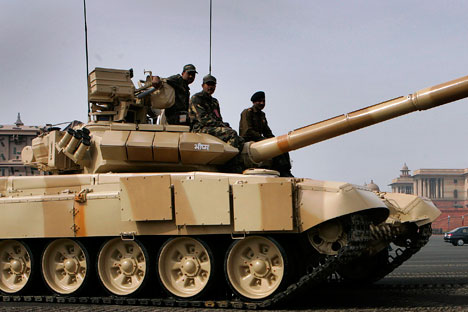 Indian Army T-90 Tank.