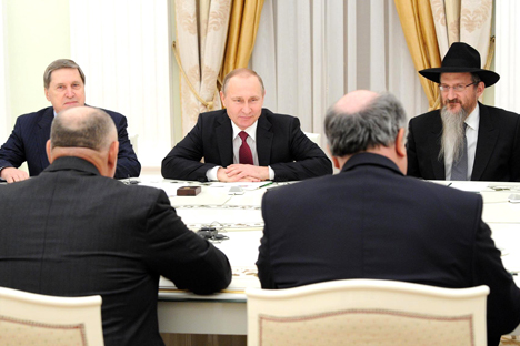 Vladimir Putin during the meeting with members of the European Jewish Congress.