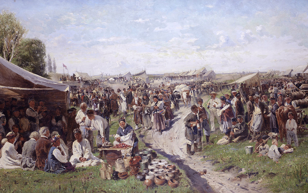 Fair (Little Russia series), 1885. The original was sold at a Bonham's auction in 2012 for £1.5-2m.