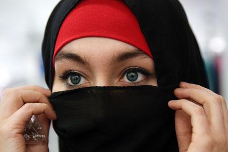 A Russian Muslim woman.
