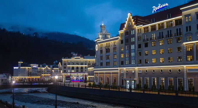 The Roza Khutor hotel complex in Krasnaya Polyana