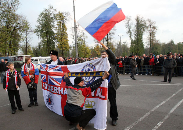 English soccer fans in Moscow  Foto: Alexei Krutov / TASS