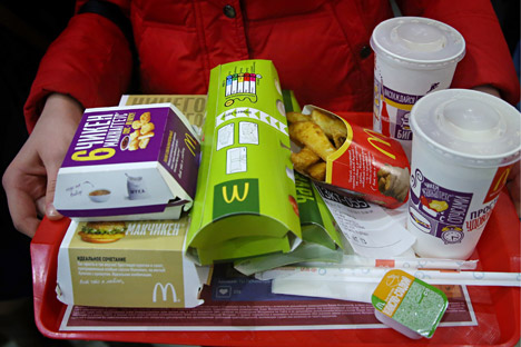 McDonald's increased its market share in Russia.