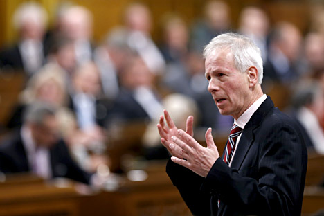 Canada's Foreign Minister Stephane Dion speaks during Question Period in the House of Commons on Parliament Hill in Ottawa, Canada, January 25, 2016.