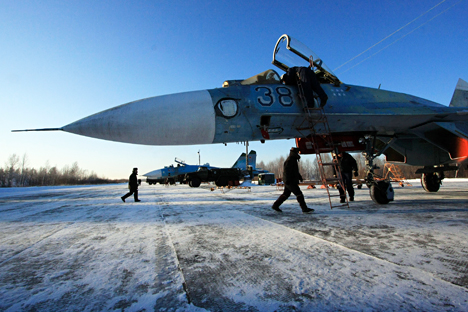 Russian Su-27 fighter plane.