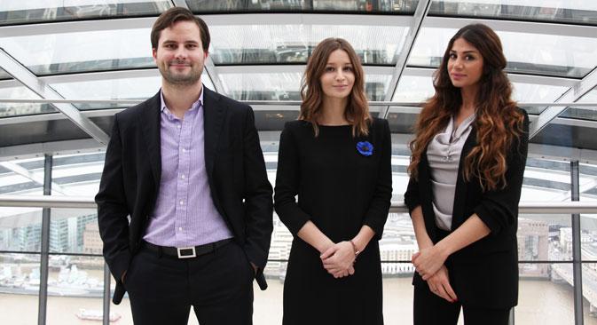 L-R: Vassili Tsarenkov, Lali Marganiya and Lili Jassemi.