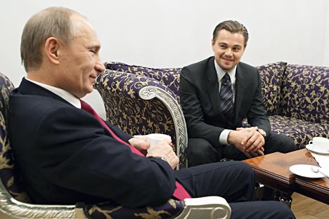 ウラジーミル・プーチン大統領とレオナルド・ディカプリオ=