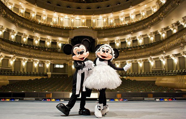 The new episode brings Mickey Mouse and his friend Minnie to the Bolshoi Theater.