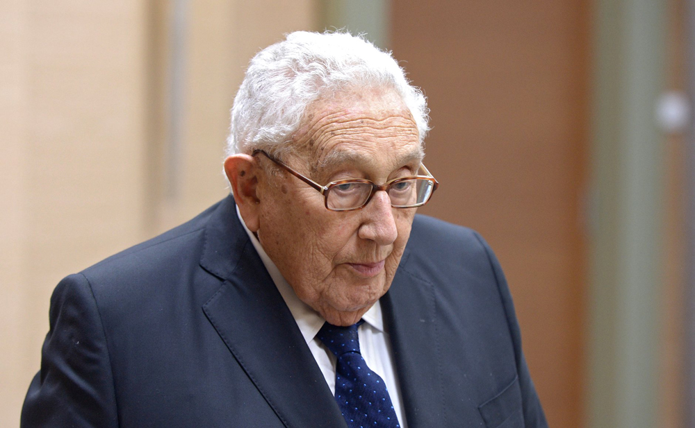 Former U.S. Secretary of State Henry Kissinger.