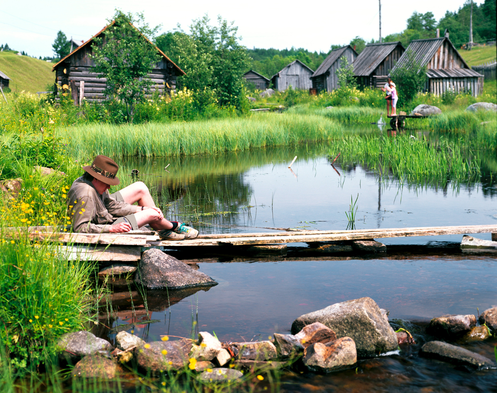 Summer idyll in a North Russian village.