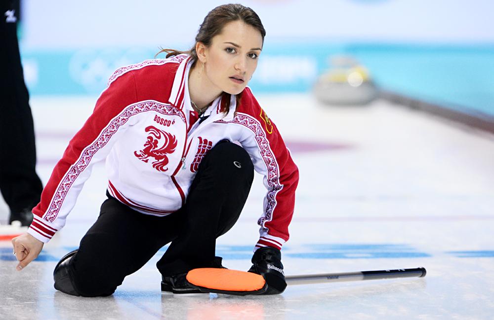 Anna Sidorova durante i Giochi Olimpici invernali a Sochi.