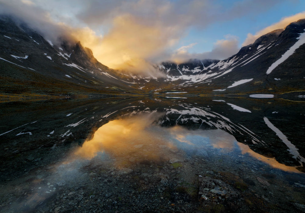 From dusk 'til dawn nomination. / Midnight in the Khibiny Mountains during the white nights.