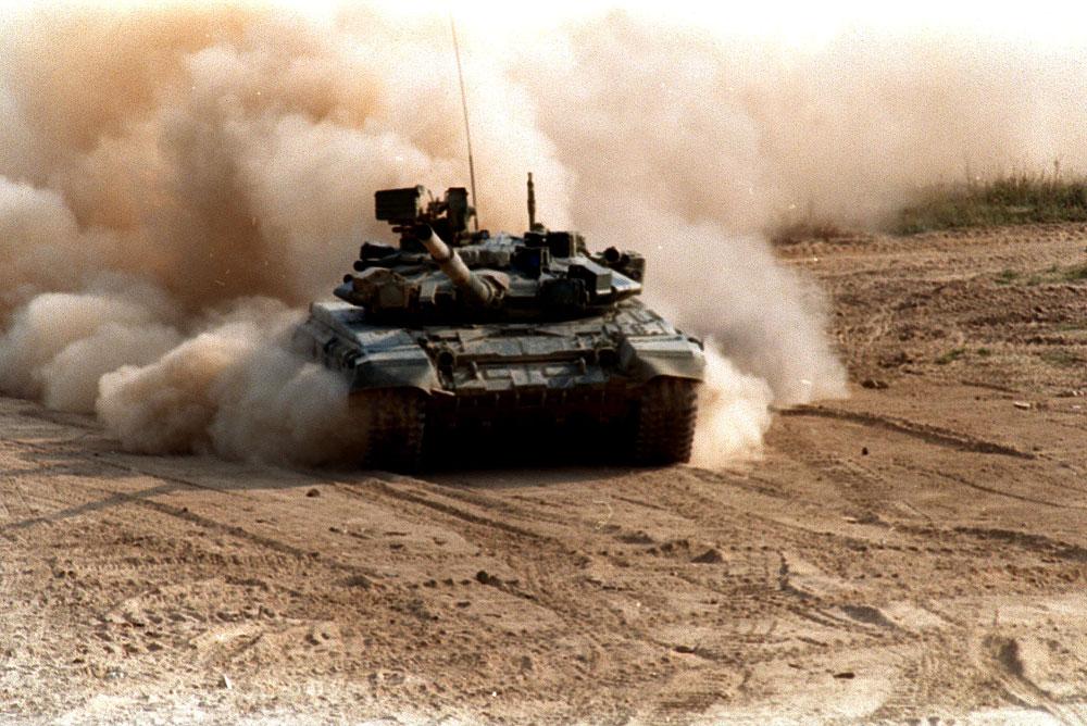 El tanque T-90 en Siria.